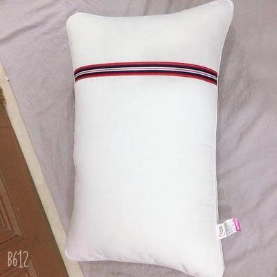 2019新款-磨毛彩带枕芯枕头 高枕二只装