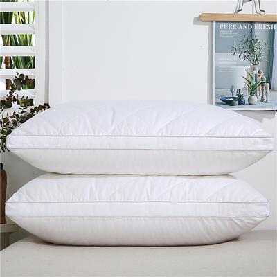 2020新款-全棉双线绗缝枕 立体高枕1200克白48x74/只