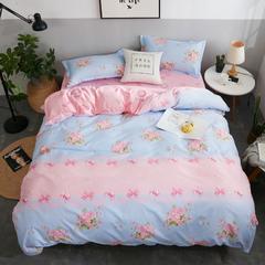 仿棉印花芦荟棉四件套 1.2m(4英尺)床 清新花语