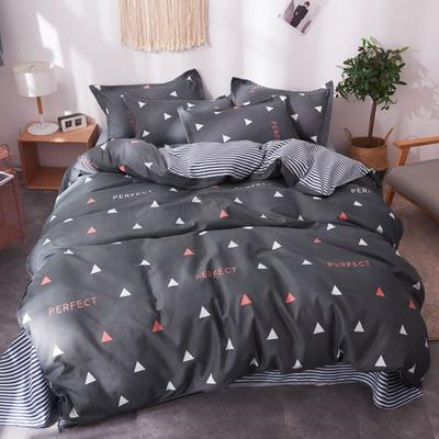 2020新款亲肤芦荟棉四件套 1.2m床单款三件套 趣味三角