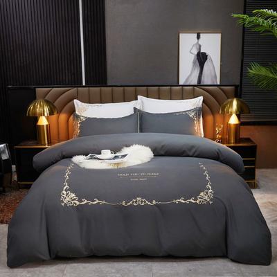 2021新款绣花床单四件套-莫妮卡 2.0m床单款四件套 莫妮卡-高级灰