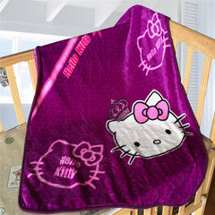 卡通定位独版法莱绒毯 70*100cm 公主凯蒂