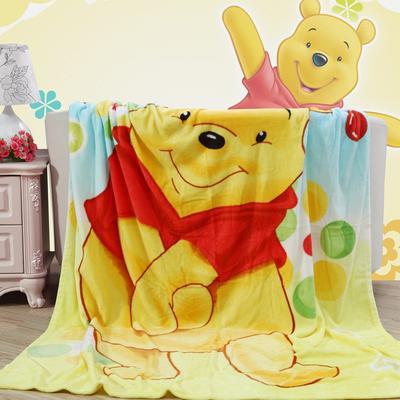 卡通定位独版法莱绒毯-200-230cm花色(卷边) 200*230cm(卷边) 彩虹维尼