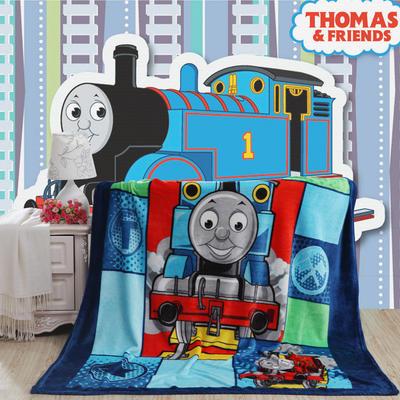 卡通定位独版法莱绒毯-200-230cm花色(卷边) 200*230cm(卷边) 托马斯