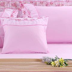 蕾丝款公主佳人方垫套(48*48cm/对) 粉色