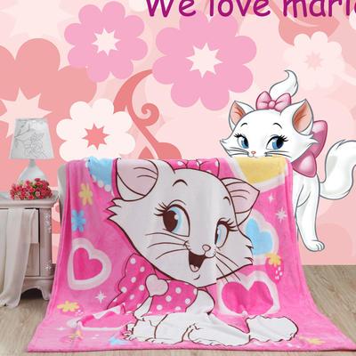 卡通定位独版法莱绒毯(包边) 70*100cm(包边) 玛丽猫