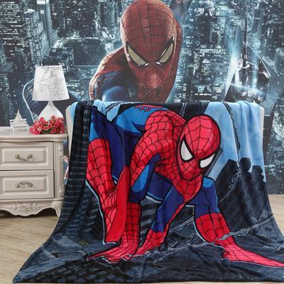2018新款卡通定位独版法莱绒毯(卷边) 150*200cm(卷边) 蜘蛛侠