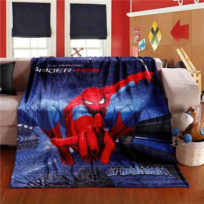 2018新款卡通定位独版法莱绒毯(卷边) 150*200cm(卷边) 蜘蛛侠-2
