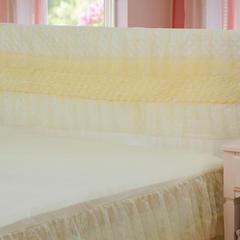 2018新款蕾丝床头罩系列 150cm宽*50cm高 玫瑰公主-米黄色