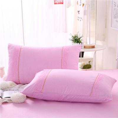 2018新款单品枕套 48cmX74cm(一对) 粉色