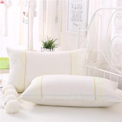 2018新款单品枕套 48cmX74cm(一对) 米黄色