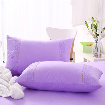 2018新款单品枕套 48cmX74cm(一对) 紫色