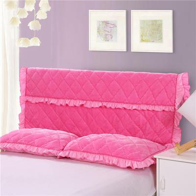 2018新品法莱绒夹棉床头罩 120*55cm 粉红色