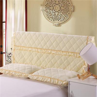 2018新品法莱绒夹棉床头罩 120*55cm 米黄色
