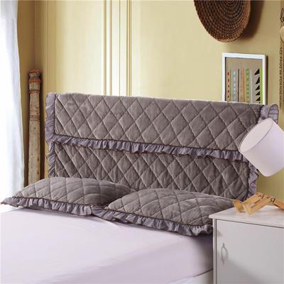 2018新品法莱绒夹棉床头罩 120*55cm 银灰色