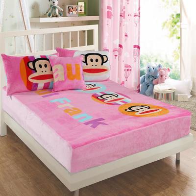 独版法莱绒卡通单床笠 150*200cm 快乐猴