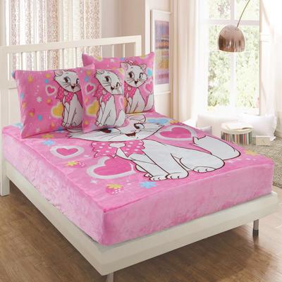 独版法莱绒卡通单床笠 150*200cm 玛丽猫