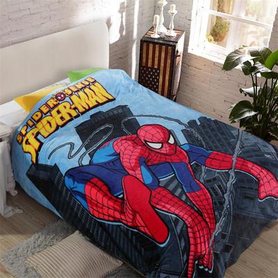 法莱绒独版定位卡通单被套 150*200cm 蜘蛛侠