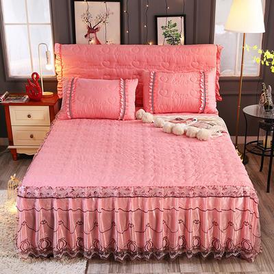 新款夹棉蕾丝床裙(典雅) 120*200+45cm 玉色