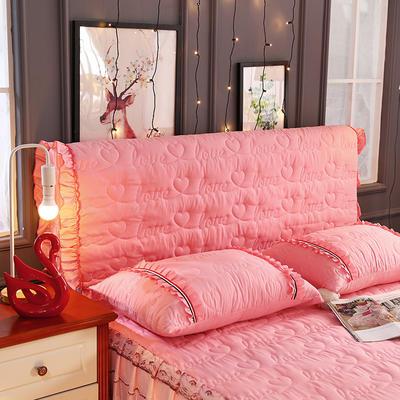 新款蕾丝全包式床头罩 120cm*60cm 粉玉