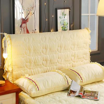 新款蕾丝全包式床头罩 120cm*60cm 米黄