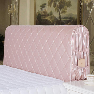 新款皮革全包床头罩 120cm+60cm 玫瑰金