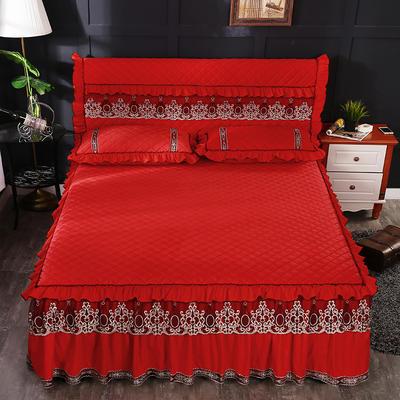 2018新款水晶绒全包床头罩 120cm*60cm 大红