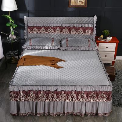 2018新款水晶绒全包床头罩 120cm*60cm 银灰