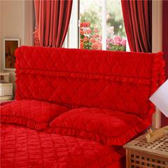 2018新款单品法莱绒夹棉床头罩 120cm*55cm 床头罩 大红色
