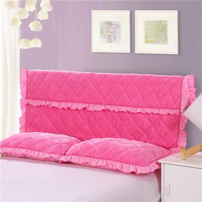 2018新款单品法莱绒夹棉床头罩 120cm*55cm 床头罩 粉红色