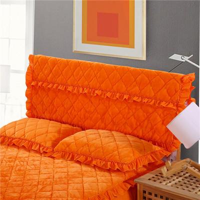 2018新款单品法莱绒夹棉床头罩 120cm*55cm 床头罩 橘黄色