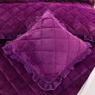 2018新款单品法莱绒方垫套 48x48cm/对 紫罗兰