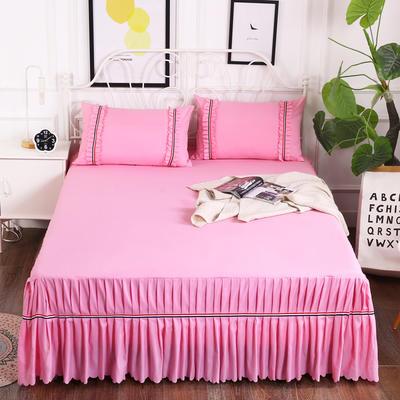 2018新款水洗磨毛单床裙-爱的旋律 150*200+45cm 粉红