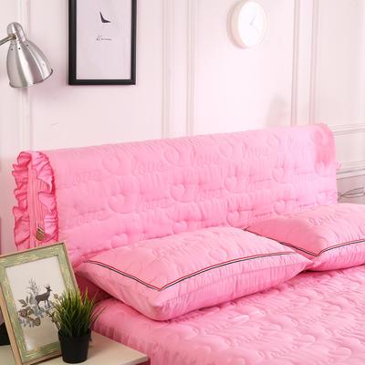 2018新款洗磨毛夹棉全包床头罩-爱的旋律 120cm*60cm 粉红