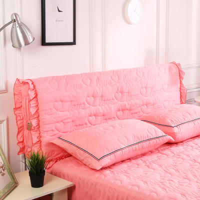 2018新款洗磨毛夹棉全包床头罩-爱的旋律 120cm*60cm 粉玉