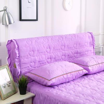2018新款洗磨毛夹棉全包床头罩-爱的旋律 120cm*60cm 紫色