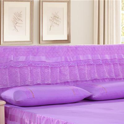2019新款新款蕾丝床头罩系列-美满家园 150*50cm 美满家园-紫色