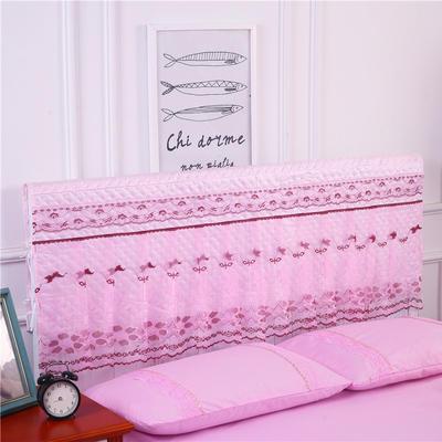 2019新款新款蕾丝床头罩系列-春光明媚 150*50cm 粉色