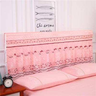 2019新款新款蕾丝床头罩系列-春光明媚 180*50cm 玉色