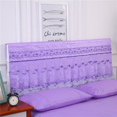 2019新款新款蕾丝床头罩系列-春光明媚 150*50cm 紫色