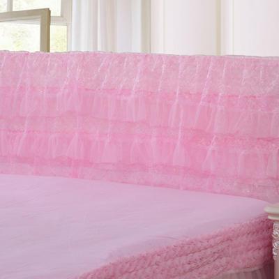2019新款新款蕾丝床头罩系列-繁花似锦 150*50cm 粉色