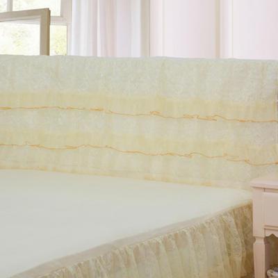 2019新款新款蕾丝床头罩系列-繁花似锦 150*50cm 米黄色
