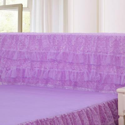 2019新款新款蕾丝床头罩系列-繁花似锦 150*50cm 紫色
