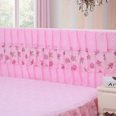 2019新款新款蕾丝床头罩系列-凤舞玫瑰 120*50cm 粉色
