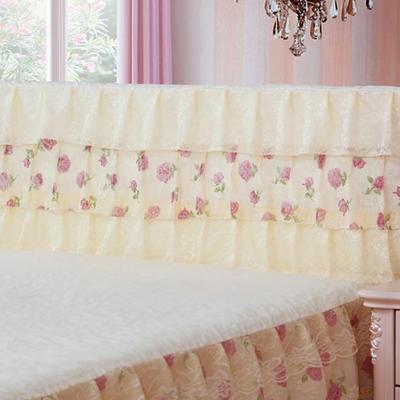2019新款新款蕾丝床头罩系列-凤舞玫瑰 120*50cm 米黄色