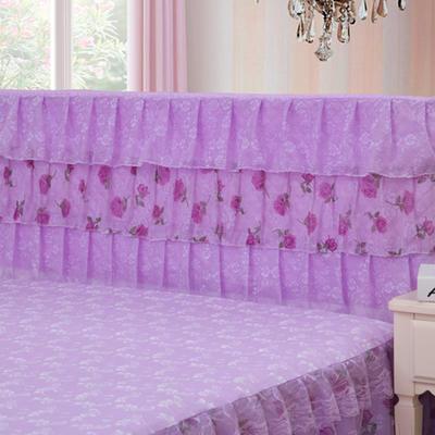 2019新款新款蕾丝床头罩系列-凤舞玫瑰 120*50cm 紫色