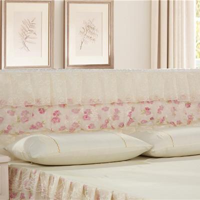 2019新款新款蕾丝床头罩系列-富贵牡丹 120*50cm 米黄色