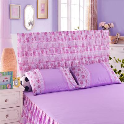 2019新款新款蕾丝床头罩系列-公主佳人 120*50cm 公主佳人--紫色