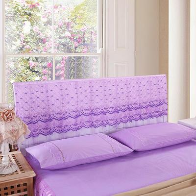 2019新款新款蕾丝床头罩系列-浪漫风情 120*50cm 浪漫风情-紫色