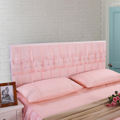 2019新款新款蕾丝床头罩系列-流光溢彩 120*50cm 玉色